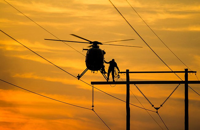 Virginia Transmission Line Construction Helicopters